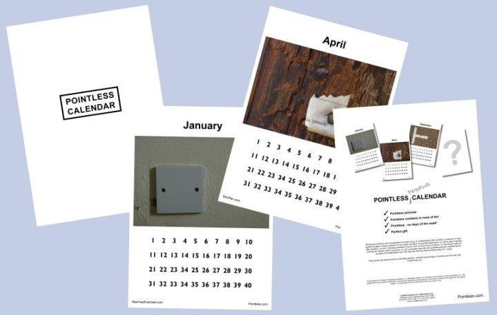 pointless calendar unusual gift unusual gifts pointless